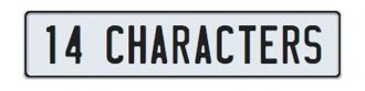 14 Character Custom German European License Plate