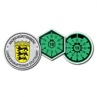 2018 Stuttgart (Home of Mercedes Benz & Porsche) Seal Set - with Date & Pollution Seals