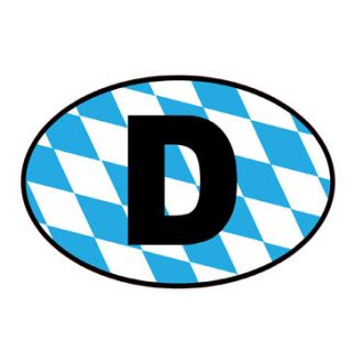 Europeanplates German Oval - Bavarian Oval Decal