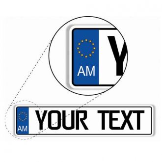 Armenia European License Plate