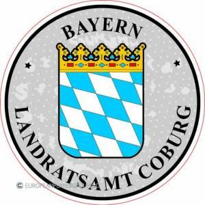 Bayern - Coburg - Germany Seal Sticker