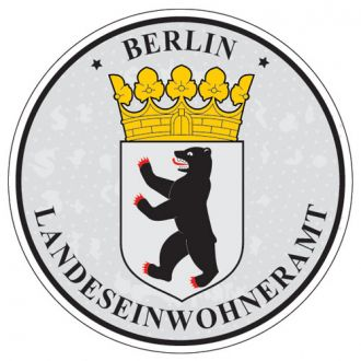 Berlin - Germany Seal Sticker - License Plate Decal