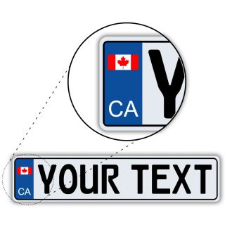Canada European License Plate - Flag Style