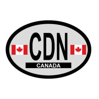 Canada Oval Decal - Country of Origin Sticker