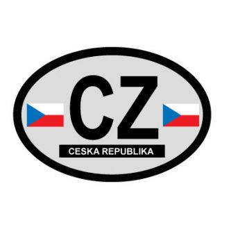Czech Republic Oval Decal - Country of Origin Sticker