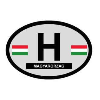 Hungary Oval Decal - Country of Origin Sticker