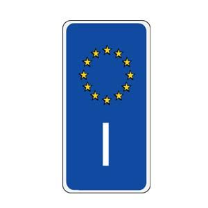 Italy European Union Sidebar Decal