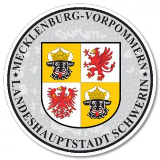 Mecklenburg - German License Plate Registration Seal