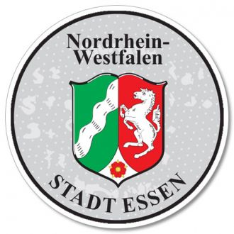 Nordrhein Westfalen - Essen  German License Plate Registration Seal