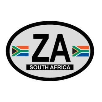 South Africa Oval Decal - Country of Origin Sticker