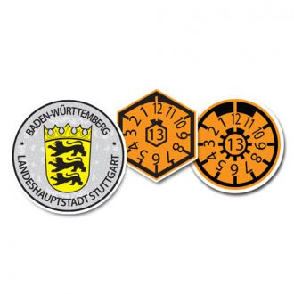 2013 Stuttgart Seal Set (Home of Mercedes Benz & Porsche) - with Date & Pollution Seals