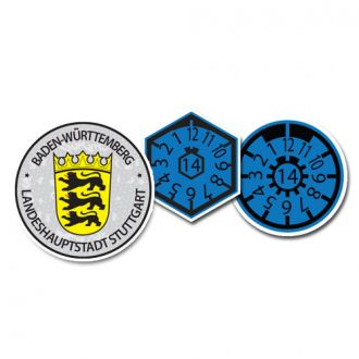2014 Stuttgart Seal Set (Home of Mercedes Benz & Porsche)  - with Date & Pollution Seals