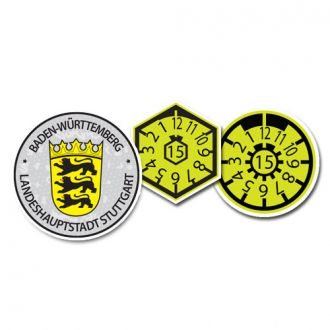 2015 Stuttgart (Home of Mercedes Benz & Porsche) Seal Set - with Date & Pollution Seals