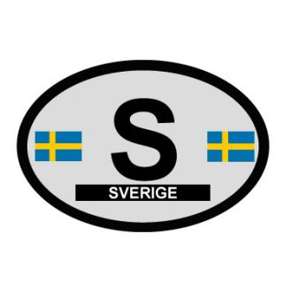 Sweden Oval Decal - Country of Origin Sticker