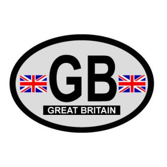 Great Britain Oval Decal - Country of Origin sticker