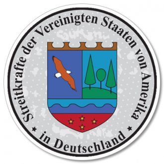US Military in Germany - German License Plate Registration Seal