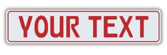German European License Plate - Euro (EEC) Car Dealer Style with Red Text