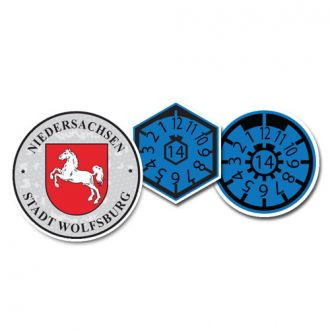 2014 Wolfsburg Seal Set (Home of VW) - with Date & Pollution Seals