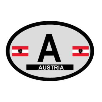 Austria Oval Decal - Country of Origin Sticker