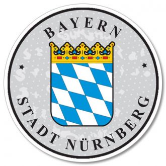 Bayern - Nurnberg - German License Plate Registration Seal