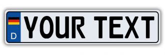 German Flag Euro Style License Plate