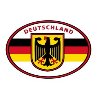 German oval decal - Deutschland Eagle Flag Sticker