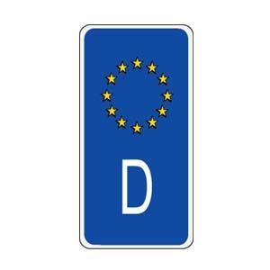 German European Union Sidebar Decal