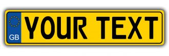 Great Britain Gloss Yellow EU Style License Plate