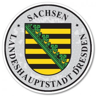 Sachsen - Dresden German License Plate Registration Seal