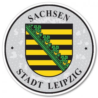 Sachsen - Leipzig German License Plate Registration Seal
