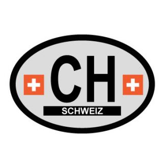 Switzerland Oval Decal - Country of Origin Sticker