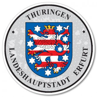 Thuringen - German License Plate Registration Seal