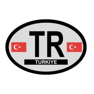 Turkey Oval Decal - Country of Origin sticker