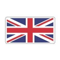 United Kingdom Rectangle Decal - Reflective Flag Bumper Sticker