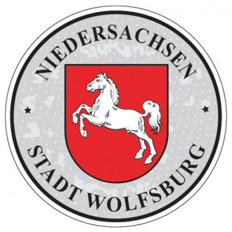 Wolfsburg - Germany Seal Sticker - License Plate Decal